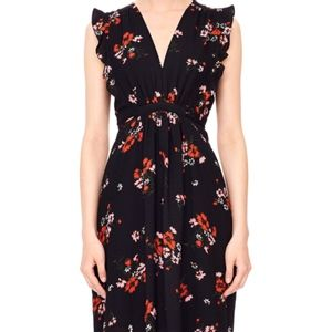 Rebecca Taylor Marguerite Sleeveless Floral Dress